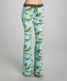 Another great find on #zulily! Blue 'Wide Awake' Lounge Pants - Women by Lazy One #zulilyfinds