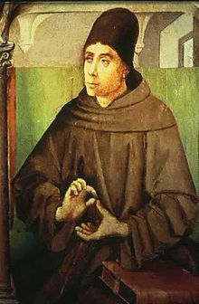 """11/8: Blessed John Duns Scotus (1266-1308) Doctor Subtilis - """"The whole of Scotus's theology is dominated by the notion of love. The characteristic note of this love is its absolute freedom. As love becomes more perfect and intense, freedom becomes more noble and integral both in God and in man."""" (Fr. Charles Balic, OFM)"""