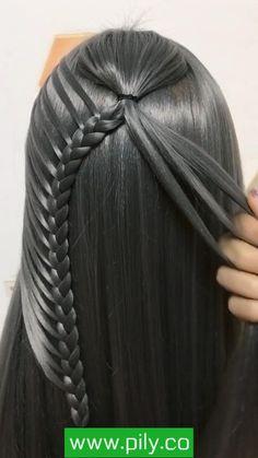 Hairdo For Long Hair, Easy Hairstyles For Long Hair, Braided Hairstyles, Front Hair Styles, Medium Hair Styles, Hair Style Vedio, Hair Tutorials For Medium Hair, Bridal Hair Buns, Hair Videos