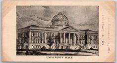 "1903 University of Oklahoma Postcard ""UNIVERSITY HALL"" w/ School Info on Back"
