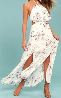 Order theLost + Wander Malibu White Floral Print Maxi Dress Here.