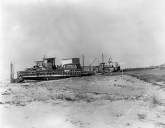 Outer Banks History Center: Hatteras Inlet Ferry 1940's