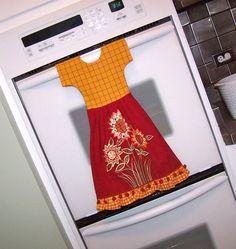 Sunflower Kitchen Towel Oven Door Dish Towel Dress . So cute