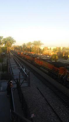 BNSF Stack Train Power at Fullerton