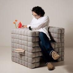 Una poltrona cubica #armchair #home #design