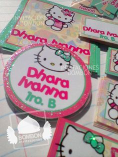 #Personalized #Label #Sticker ¡Everybody ready! #Hello #Kitty https://www.facebook.com/invitaciones.bombon