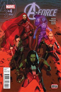 MARVEL COMICS (W) G. Willow Wilson, Kelly Thompson (A/CA) Jorge Molina • Does defeating Antimatter mean the end of Singularity? As Singularity faces Antimatter on her own, prepared to sacrifice her ow