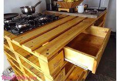 Bancadas e Móveis de Cozinha com Pallets http://maispaletes.com/6-ideias-de-moveis-para-cozinha-paletes/