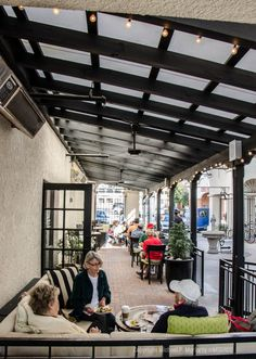 Outdoor seating with misters at Liv Cafe & Bistro