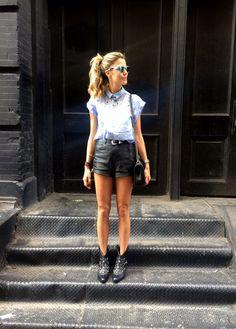 Jeans e couro - Martha Graeff
