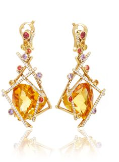 Lorenz Baumer Mikado Citrine Earrings