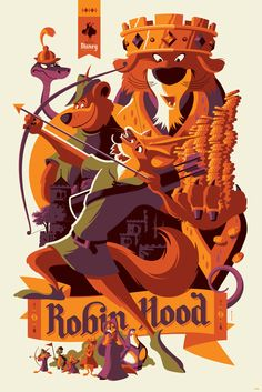 The Geeky Nerfherder Coolart New Disney Prints By Tom - Coolart New Disney Prints By Tom Whalen Joe Dunn From Cyclops Print Works Cyclops Print Works Are Releasing Two New Officially Licensed Disney Movie Prints Robin Hood By Tom Whale Disney Pixar, Disney Animation, Draw Disney, Walt Disney, Disney And Dreamworks, Disney Drawings, Disney Magic, Disney Art, Disney Villains