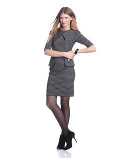 Gabby Skye Women's Peplum Dress