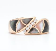 A Ladies' Mother of Pearl and Diamond Ring, Signed KABANA