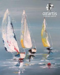 ozartis-la-rochelle-acrylique-voiliers-copie-maryvone Sailboat Art, Sailboat Painting, Sailboats, Seascape Paintings, Landscape Paintings, Watercolor Paintings, Acrylic Paintings, Wald Tattoo, Coastal Wall Art