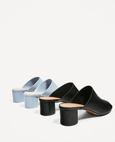 Image 6 of BACKLESS LEATHER SANDALS from Zara