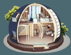 Sky dome homes from Russia
