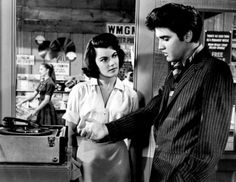 Watch early Elvis flicks, and it's apparent why he was so...well, Elvis. (Judy Tyler and Elvis Presley in Jailhouse Rock (1957)
