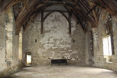 Stokesay Castle  Interior of medieval hall - Woodhall would be similar.