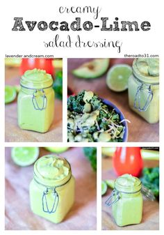 Creamy Avocado-Lime Salad Dressing - the ingredients are already so bold and flavorful, this mild salad dressing gives just the right amount of flavor and healthy fats! #glutenfree