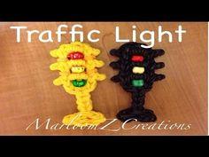 ▶ Rainbow Loom Traffic Light Charm - Original Design - YouTube