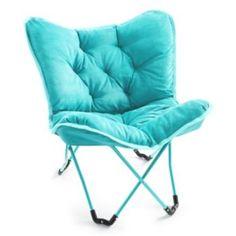Simple By Design Dish Tufted Denim Chair Zach College
