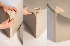 Kaichuan Wang's dovetail stool for Junzi Kitchen. Photo by Kaichuan Wang.