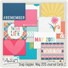 Snap Happier: May 2015 Journal Cards 2 only $2.99 by Bella Gypsy! Grab EVERYTHING in the HUGE bundle for just $20!