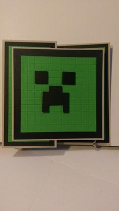"""Boys Card # 48 - Minecraft. HANDMADE FOR YOU DESIGN. Pictured Card Size 4"""" x 6""""."""