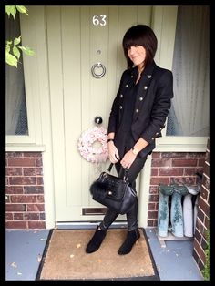 Styling a military jacket with leather leggings www.mymidlifefashion.com