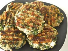 Lean Turkey Burger Recipe Main Dishes with turkey meat, mustard, spinach, purple onion, minced garlic, black pepper