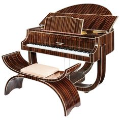 Art Deco 'Boudoir' Grand Piano by Strohmenger, 1938 | See more antique and modern Musical Instruments at https://www.1stdibs.com/furniture/more-furniture-collectibles/musical-instruments