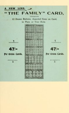 ButtonArtMuseum.com - From Jeremiah Rotherham & Company General Price List (1904)