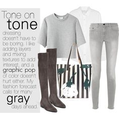 """""""Tone on tone"""" by anh-9to5chic on Polyvore"""