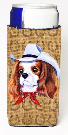 Cavalier Spaniel Dog Country Lucky Horseshoe Ultra Beverage Insulators for slim cans SP5220MUK