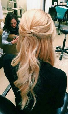 classic half up half down wedding hairstyle