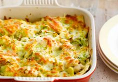 Lasagnes au poulet et aux poireauxVoir la recette des Lasagnes au poulet et aux poireaux >>