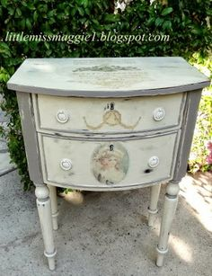 How To Mod Podge Furniture | LittleMissMaggie: Documented Table in Reverse Mod Podge