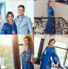 Blue dressBoho StyleUkrainian Vyshyvanka. Exclusive by NataLight