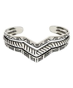 Look at this #zulilyfind! Sterling Silver Chevron Cuff #zulilyfinds