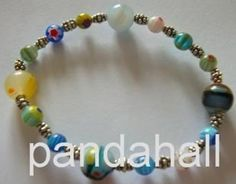 Tendance Bracelets  Elastic millefiori bracelet made by Marina Antiga from LC.Pandahall.com