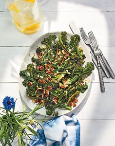 Crunchy Broccolini With Lemon and Pecans | Get the recipe for Crunchy Broccolini With Lemon and Pecans.