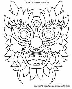 Pin By Bevish Designs On Dragons Dragon Mask, Chinese Crafts - - jpeg Chinese New Year Crafts For Kids, Chinese New Year Dragon, Chinese New Year Activities, Chinese Crafts, Year Of The Dragon, Dragon Chine, Chinese Mask, Chinese Opera, Dragon Mask