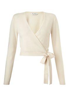Cream Cashmere Wrap Cardi - Miss Selfridge
