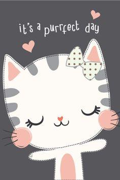 ideas cats illustration wallpaper kitty - Arts and crafts andrea - Katzen Cat Wallpaper, Cartoon Wallpaper, Aztec Wallpaper, Screen Wallpaper, Diy Kawaii, Cat Birthday, Cat Party, Cat Drawing, Cute Illustration