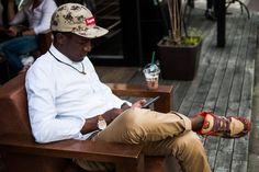 Streetsnaps: b-side Break. Location: Starbucks b-side by Hiroshi Fujiwara, Japan.    Photography: Eddie Eng/Hypebeast