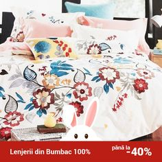 Lenjerie de pat din bumbac Valentini Bianco TB010/49 Comforters, Blanket, Bed, Furniture, Home Decor, Creature Comforts, Quilts, Decoration Home, Stream Bed