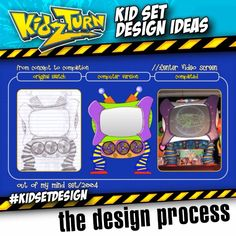 """12 Likes, 3 Comments - KidzTurn (@kidzturn) on Instagram: """"the design process.  here are 3 stages of building some props for our 2004 set.  from paper, to…"""""""