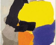 Collage with Yellow, Blue and Orange - Esteban Vicente