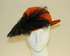 Hat 1930, American, Made of feathers